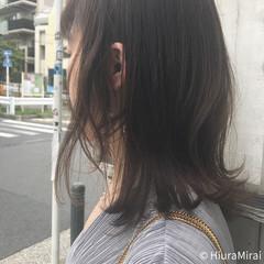 ミディアム 夏 外ハネ ヘアアレンジ ヘアスタイルや髪型の写真・画像