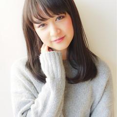大人かわいい 暗髪 秋 イルミナカラー ヘアスタイルや髪型の写真・画像