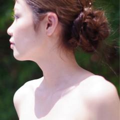 ロング 涼しげ 結婚式 夏 ヘアスタイルや髪型の写真・画像