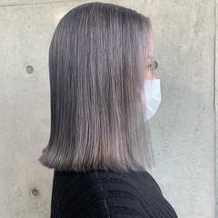 ハイトーンカラー モード ホワイトシルバー ショート ヘアスタイルや髪型の写真・画像
