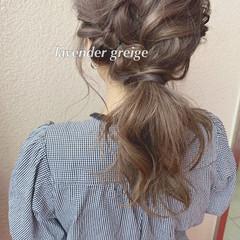 ミルクティーベージュ 大人可愛い ラベンダーグレージュ ブリーチカラー ヘアスタイルや髪型の写真・画像