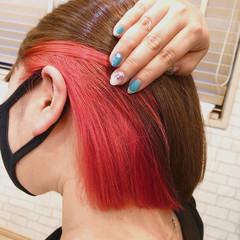 コンサバ カッパー カッパーピンク オレンジカラー ヘアスタイルや髪型の写真・画像