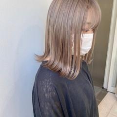 透明感カラー ホワイトベージュ ダブルカラー ストリート ヘアスタイルや髪型の写真・画像