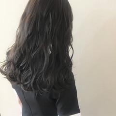 大人女子 アッシュブラック ガーリー ナチュラル ヘアスタイルや髪型の写真・画像