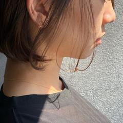 大人かわいい 大人グラボブ ミルクティーベージュ ミニボブ ヘアスタイルや髪型の写真・画像