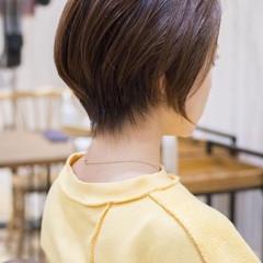 ショートボブ 大人かわいい ショート ナチュラル ヘアスタイルや髪型の写真・画像
