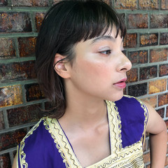 ウェットヘア 抜け感 女子力 レイヤーカット ヘアスタイルや髪型の写真・画像