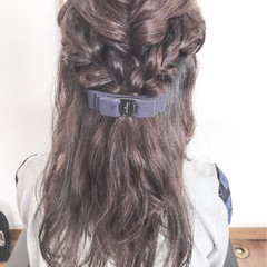 デート パーマ セミロング ヘアアレンジ ヘアスタイルや髪型の写真・画像