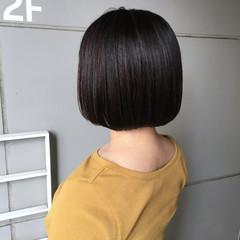切りっぱなしボブ 黒髪 ショートボブ ボブ ヘアスタイルや髪型の写真・画像