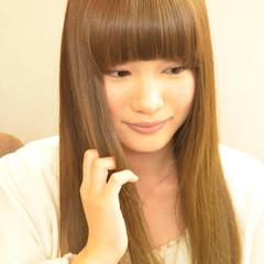 ピュア 大人女子 ストレート ロング ヘアスタイルや髪型の写真・画像