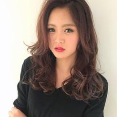 ストリート ピンク ロング 外国人風 ヘアスタイルや髪型の写真・画像