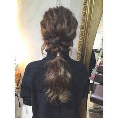 波ウェーブ モテ髪 フェミニン ヘアアレンジ ヘアスタイルや髪型の写真・画像