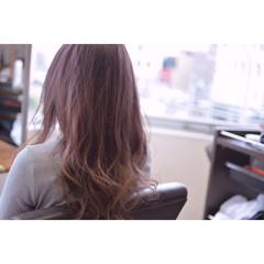ダブルカラー ピンク ストリート ピンクアッシュ ヘアスタイルや髪型の写真・画像