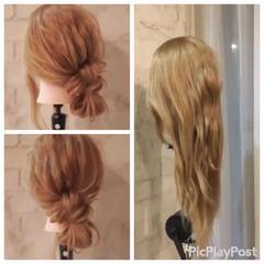 ショート ストリート セミロング ハーフアップ ヘアスタイルや髪型の写真・画像