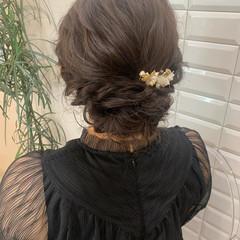 ふわふわヘアアレンジ 結婚式アレンジ ヘアセット ロング ヘアスタイルや髪型の写真・画像