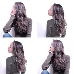 外国人風カラー アッシュ グラデーションカラー ブルージュ ヘアスタイルや髪型の写真・画像