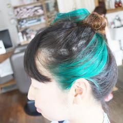 ロング 大人女子 ショート ブルー ヘアスタイルや髪型の写真・画像