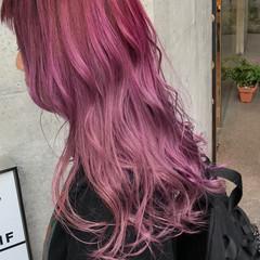 ラベンダーピンク ピンク ガーリー ピンクアッシュ ヘアスタイルや髪型の写真・画像