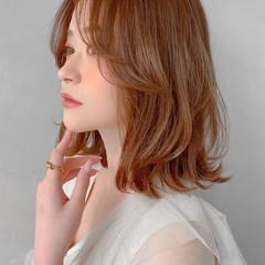 ナチュラル 透明感カラー 切りっぱなしボブ 暗髪 ヘアスタイルや髪型の写真・画像