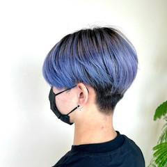 ブルーバイオレット ストリート ブルーラベンダー メンズカット ヘアスタイルや髪型の写真・画像
