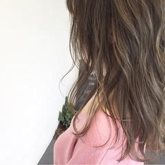 ハイライト 透明感 アンニュイ セミロング ヘアスタイルや髪型の写真・画像