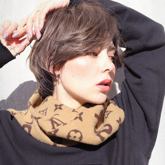 ナチュラル 簡単スタイリング 無造作ヘア 小顔ショート ヘアスタイルや髪型の写真・画像