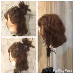 フェミニン ショート 外国人風 パーティ ヘアスタイルや髪型の写真・画像