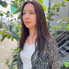 外国人風 秋冬スタイル ハイライト ロング ヘアスタイルや髪型の写真・画像