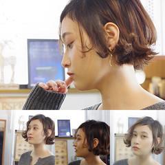 モテボブ フェミニン ボブ オフィス ヘアスタイルや髪型の写真・画像