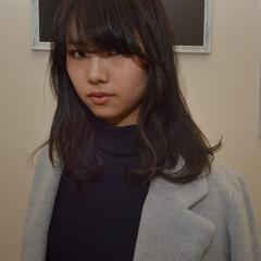 アッシュ ナチュラル パーマ セミロング ヘアスタイルや髪型の写真・画像