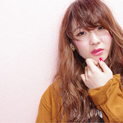フェミニン 外国人風 ロング ストリート ヘアスタイルや髪型の写真・画像