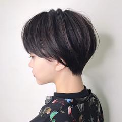 ショート ナチュラル ハンサムショート ショートカット ヘアスタイルや髪型の写真・画像