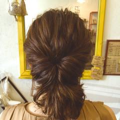 ヘアアレンジ 波ウェーブ ボブ フェミニン ヘアスタイルや髪型の写真・画像
