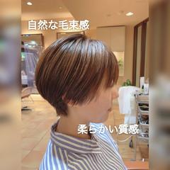 ナチュラル ショートヘア ショートボブ マッシュショート ヘアスタイルや髪型の写真・画像