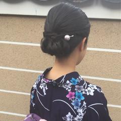 セミロング 和服 ヘアアレンジ 着物 ヘアスタイルや髪型の写真・画像