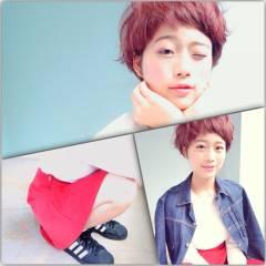 ショート ストリート マッシュ 秋 ヘアスタイルや髪型の写真・画像