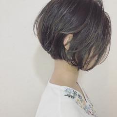 小顔ヘア ショートヘア 小顔ショート ミニボブ ヘアスタイルや髪型の写真・画像