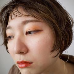 ショートヘア サロンモデル ショート イルミナカラー ヘアスタイルや髪型の写真・画像