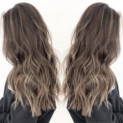 ハイライト ロング ヘアカラー 透明感カラー ヘアスタイルや髪型の写真・画像
