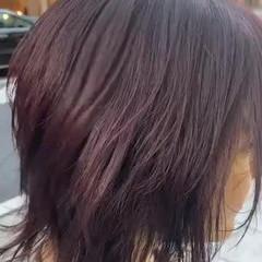 ピンクアッシュ ラベンダーピンク ミディアム ナチュラル ヘアスタイルや髪型の写真・画像