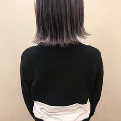ブリーチ デート ロブ ナチュラル ヘアスタイルや髪型の写真・画像