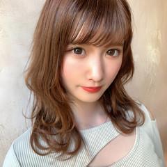 ミディアムレイヤー ミディアムヘアー ミディアム 鎖骨ミディアム ヘアスタイルや髪型の写真・画像