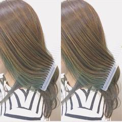 ハイライト ロング グラデーションカラー ガーリー ヘアスタイルや髪型の写真・画像