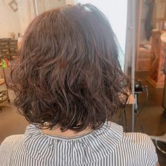 ナチュラル ボブ パーマ ヘアスタイルや髪型の写真・画像