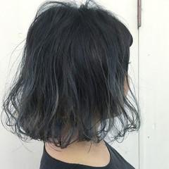 グレージュ ボブ グレー ストリート ヘアスタイルや髪型の写真・画像