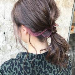 ピンク ベリーピンク ミディアム ナチュラル ヘアスタイルや髪型の写真・画像