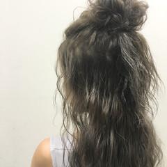 ヘアアレンジ 外国人風 暗髪 ハーフアップ ヘアスタイルや髪型の写真・画像