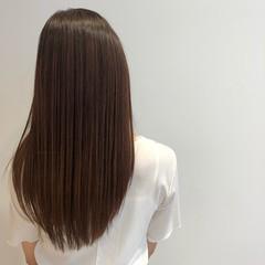 エアーストレート 360度どこからみても綺麗なロングヘア ロング ナチュラル ヘアスタイルや髪型の写真・画像