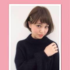 愛され 丸顔 ヘアアレンジ モテ髪 ヘアスタイルや髪型の写真・画像