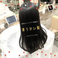 ストレート ナチュラル 前髪 髪質改善 ヘアスタイルや髪型の写真・画像
